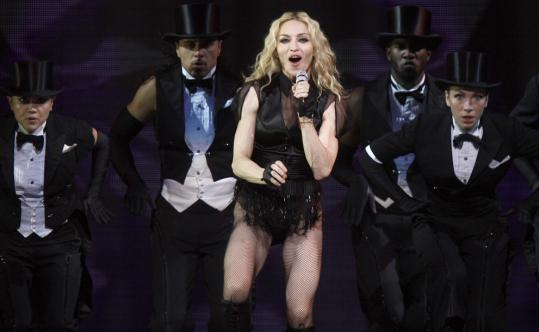 Madonna was all business last night at the TD Banknorth Garden.