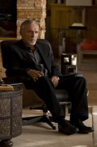 Dennis Hopper plays a record producer in ''Crash,'' based on the Oscar-winning movie.