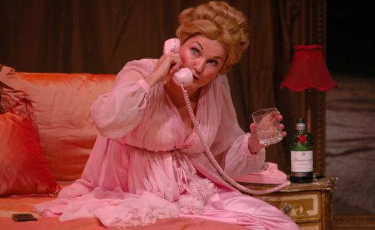 Annette Miller in the title role of ''Martha Mitchell Calling'' at the Central Square Theater.