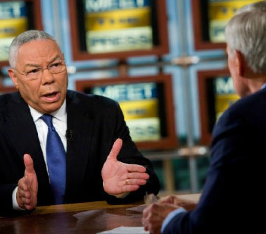Retired general Colin Powell's announcement dealt another blow to John McCain.