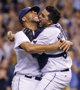Rookie lefthander David Price gave the Rays, and catcher Dionner Navarro, a lift with his four-out save in their ALCS-clinching Game 7 victory over the Red Sox.