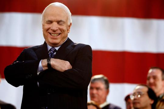 John McCain held a rally in Bensalem, Pa., yesterday, one of his campaign's many stops on a tour of swing states. At his stop in Harrisburg, McCain told supporters, ''America will not have a president who needs to be tested. I've been tested.''