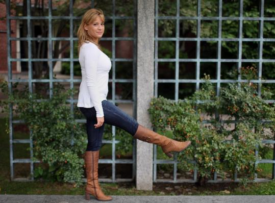 Olympic gymnast Alicia Sacramone is back at Brown University and has a career in fashion - and maybe a spot on ''Dancing With the Stars'' - on her mind.