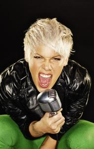Pink mixes in fully cranked party tunes with ballads about her breakup.
