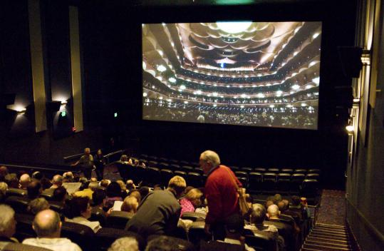 At the Regal Fenway 13 theater, opera fans settled into their seats, eager for the start of a simulcast of the Metropolitan Opera's performance of 'Salome.'
