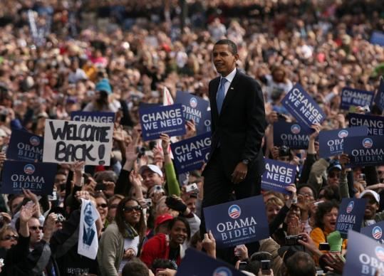 ''Do you ever have small crowds in Denver?'' Barack Obama asked the crowd at Civic Center Park yesterday.
