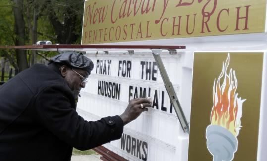 Arthur Reed Jr., pastor of the the Calvary Light Pentecostal Church, posted a message yesterday asking for prayer in support of Oscar-winning actress Jennifer Hudson's family, across the street from where Hudson's mother and brother were killed.