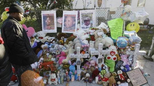 A memorial has grown outside Darnell Donerson's home in Chicago. Donerson was the mother of Oscar winner Jennifer Hudson.