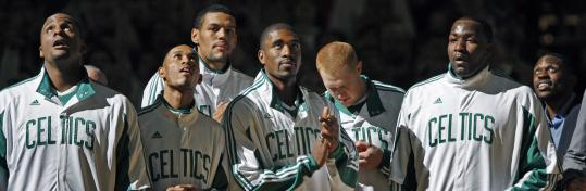 In pregame ceremonies last night, the Celtics basked in the spotlight of their 2007-08 NBA championship - the kind of moment many of their parquet predecessors could relate to.