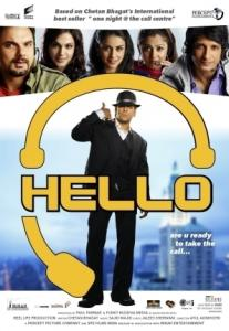 A poster for the movie ''Hello,'' an Indian film about the lives of call-center workers.