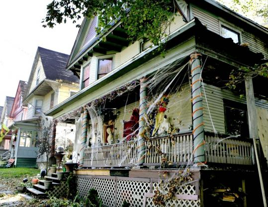 Halloween decorations were up in Oil City, Pa., last week after fifth-grader Elizabeth Roess petitioned the City Council to bring back nighttime trick-or-treating, banned since a fatal abduction 16 years ago.