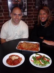 Matt Comella, co-owner of Comella's restaurants, and Siobhan Fitzgerald, manager of its Concord location.