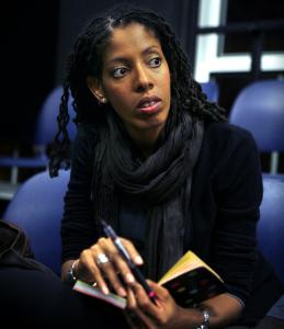 Lydia Diamond watches a rehearsal of her play ''Voyeurs de Venus'' last month.