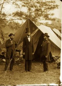 Lincoln visiting an Army camp during the Civil War. During the four years of his presidency, ''military matters required more of Lincoln's time and energy than anything else,'' writes historian James M. McPherson in ''Tried by War.''