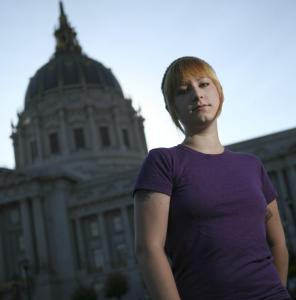Patricia West, 22, said she moved to San Francisco from Texas to work on Proposition K, which would forbid local authorities from arresting or prosecuting anyone for selling sex.