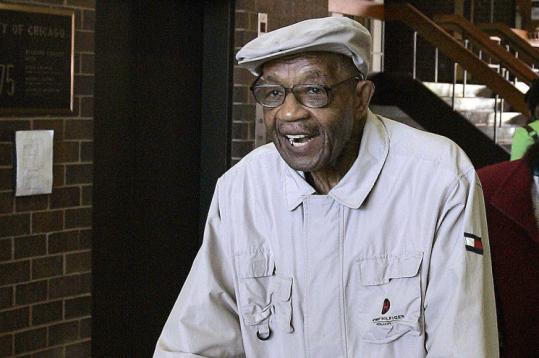 Conrad Cochran, 89, cast his ballot on Chicago's South Side for Barack Obama on Thursday, the last day for early voting.