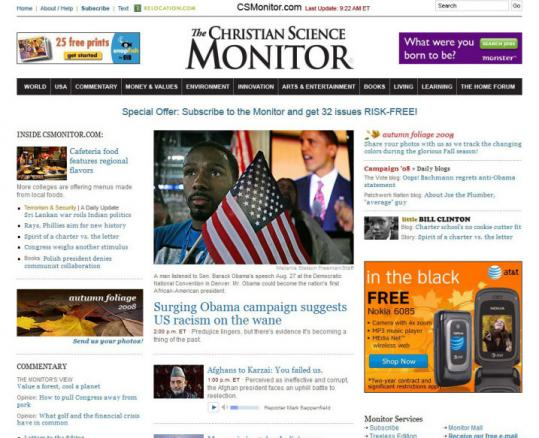 The Monitor will be printed on paper just once a week as the focus shifts to the newspaper's website.