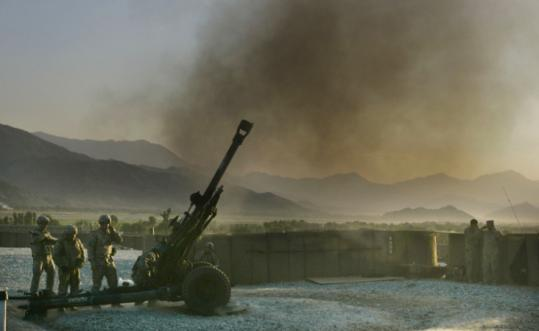 US troops fired artillery Saturday after an attack on a US patrol base in eastern Afghanistan, near the Pakistan border.