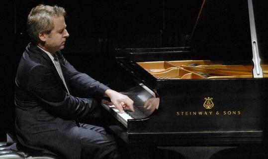 Jeremy Denk (seen here performing in New York earlier this year) paired the ''Concord'' and ''Hammerklavier'' sonatas Sunday.