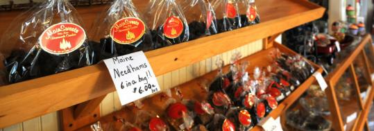 Needhams, a dark-chocolate treat made with potato, are a signature product at MainSweets in Georgetown, Maine.