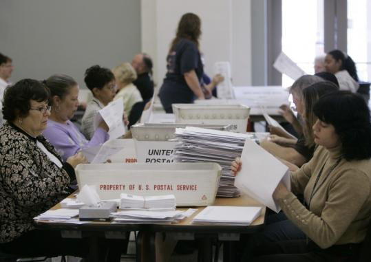 THE COUNT CONTINUES - A surge in voters who used paper ballots on Election Day overwhelmed poll workers in some parts of Ohio, including Columbus, where workers yesterday also sorted through absentee ballots to be scanned. Several large counties could not report results until yesterday, holding up the outcome of a crucial congressional race.