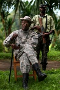 The rebel National Congress for the Defense of the People leader General Laurent Nkunda posed for a portrait yesterday in Tebero, Democratic Republic of Congo.
