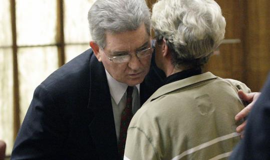 John Connolly embraced his sister, Sally, after a jury in Miami found him guilty yesterday of second-degree murder.