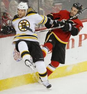 Dennis Wideman is emerging as an offensive force for the Bruins, notching three goals and four assists in 13 games.