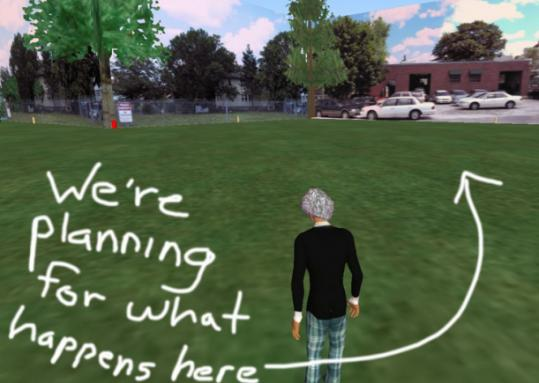 Virtual reality simulations can help businesses and others meet or plan projects online at low cost.