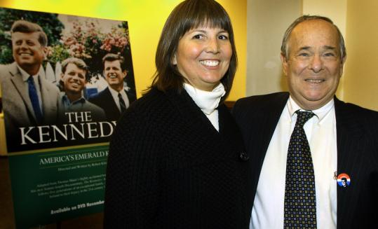 Stephanie Heredia and Robert Kline at Boston College last night.