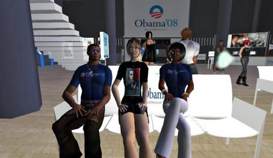 Barack Obama's campaign incorporated technology into the senator's bid for the White House, including setting up a virtual headquarters in SecondLife, an online world created by its users.