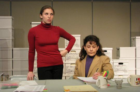 Judith Kalaora (left) plays Diane and Lorna Nogueira is Mercedes in ''The Thugs.''