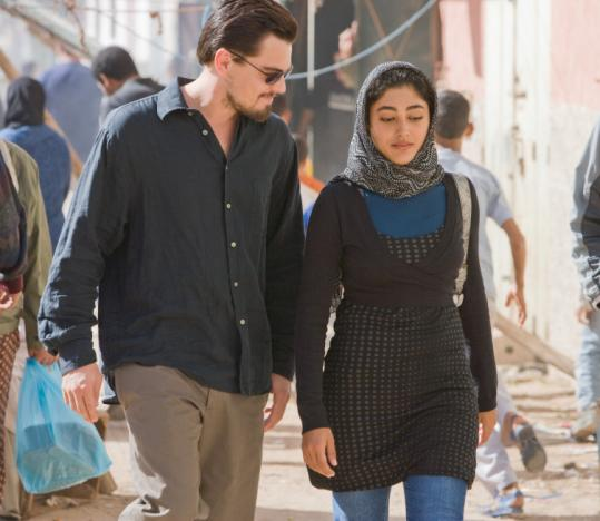 Leonardo DiCaprio with Golshifteh Farahani in ''Body of Lies.''