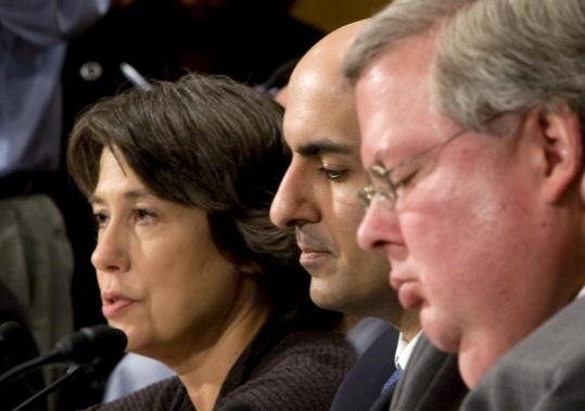 Sheila Bair, the chairwoman of the Federal Deposit Insurance Corp. An FDIC initiative to rewrite problem loans for customers of the failed IndyMac Bank was applauded by Treasury Secretary Henry Paulson as a potential model for helping homeowners.
