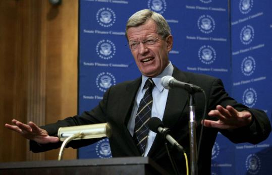 Senator Max Baucus, Democrat of Montana, the head of the powerful Senate Finance Committee, unveiled a sweeping healthcare reform plan yesterday that would eventually require all Americans to obtain insurance.