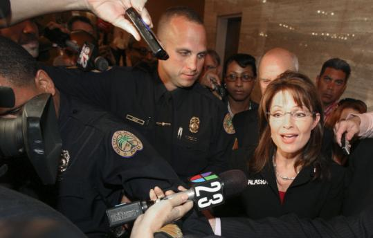 Sarah Palin, in Miami yesterday for a Republican Governors Association meeting, said a woman - though not necessarily her - would be good for the party's presidential ticket in 2012.