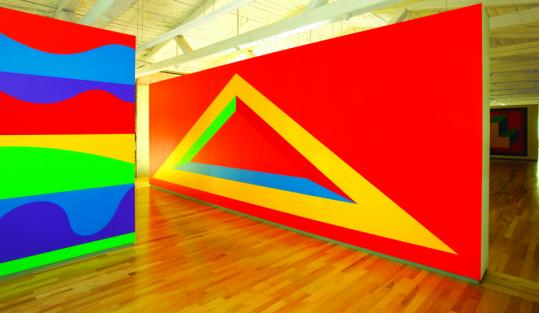 ''Wall Drawing 1005'' (above) is part of a three-story installation at the Massachusetts Museum of Contemporary Art of works by the late Sol LeWitt. Many early works use fine pencil; later ones also use ink wash or acrylic paints in bold patterns.