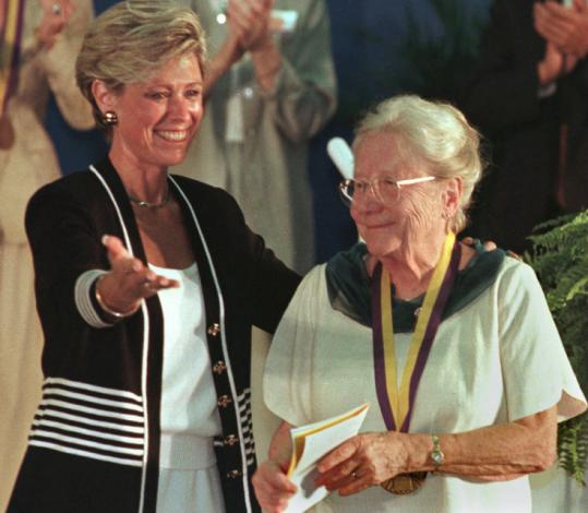 Florence Wald, introduced by National Women's Hall of Fame president Lyn Bedell, was inducted into the Hall of Fame in Seneca Falls, N.Y.
