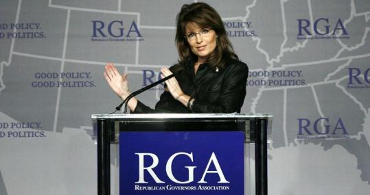 Hans Deryk/ReutersGovernor Sarah Palin of Alaska spoke during a Plenary Session at the Republican Governors Association's conference in Miami.