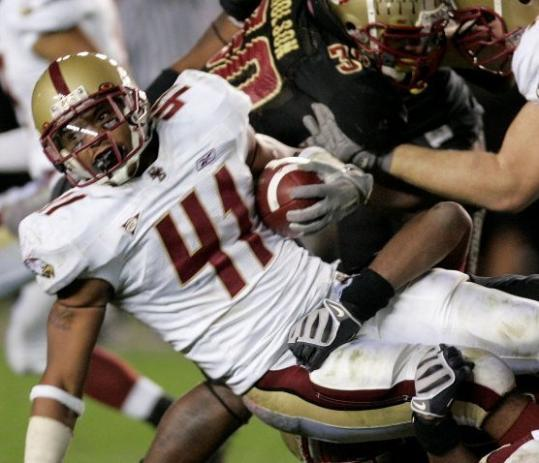 Freshman Montel Harris ran with a chip on his shoulder as he battered Florida State (the team he rooted for growing up) for 121 yards.