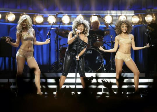 Tina Turner's energy was boundless, carrying her through a catalog of hits such as ''Proud Mary,'' ''Private Dancer,'' and ''River Deep Mountain High.''