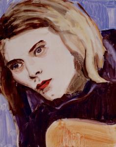 ''Kurt'' is among the portraits Elizabeth Peyton painted of musician Kurt Cobain.