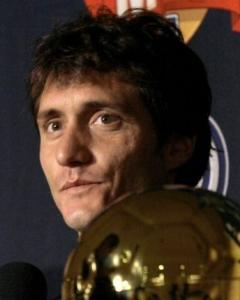 Guillermo Barros Schelotto is frequently on the ball.