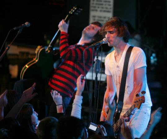 The All-American Rejects played a sold-out show at the Paradise.