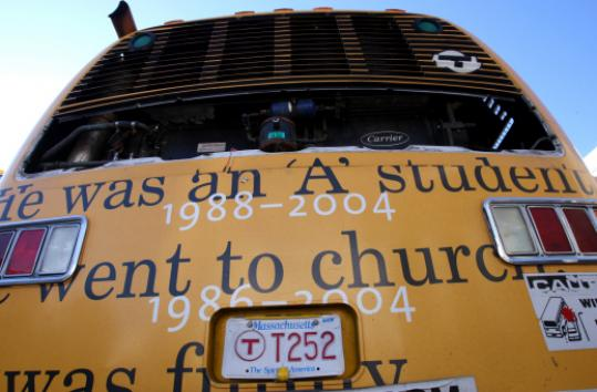Bus 252 carried the birth and death dates of city children gunned down over 25 years.