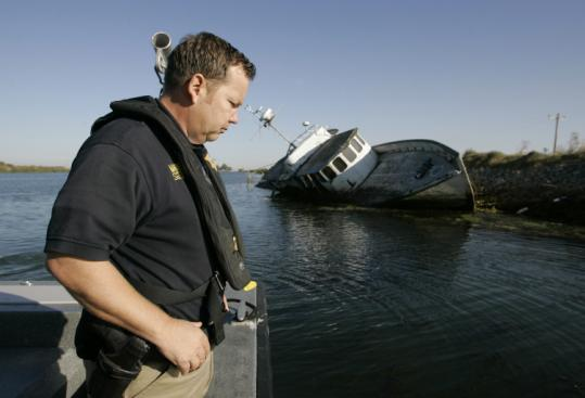 Doug Powell of the Contra Costa County Sheriff's Department said something should be done with abandoned vessels.