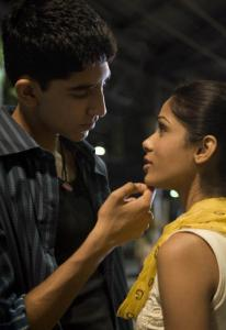 Dev Patel and Freida Pinto in a scene from ''Slumdog Millionaire.''