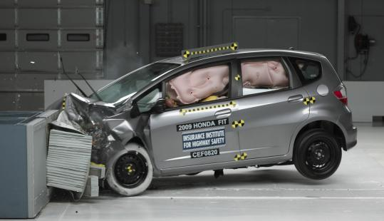 The 2009 Honda Fit with electronic stability control was the first minicar to make the Insurance Institute for Highway Safety's list of safest cars in front, side, and rear crashes.