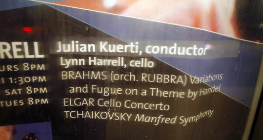 After conductor Gennady Rozhdestvensky pulled out of BSO performances last week, a poster at Symphony Hall sported a sticker featuring the name of assistant conductor Julian Kuerti, who stepped in.