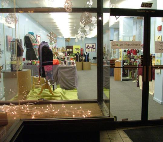 Boston Handmade artists plan to open their free storefront at 505 Washington St. this weekend to holiday shoppers.